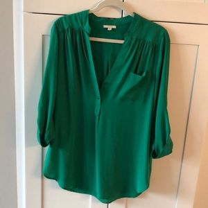 Pleione long Blouse! Christmas Green!
